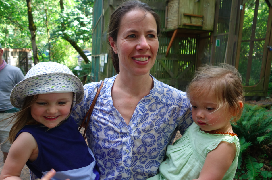 The lovely KT, with her youngest daughter, Nadia, and my daughter, Zoe.