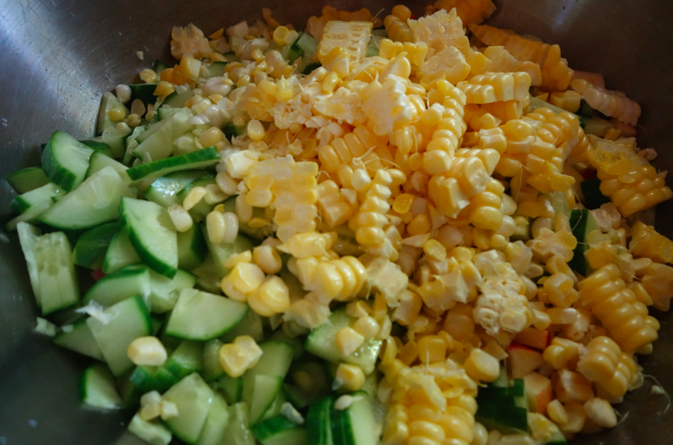 Fresh raw corn.