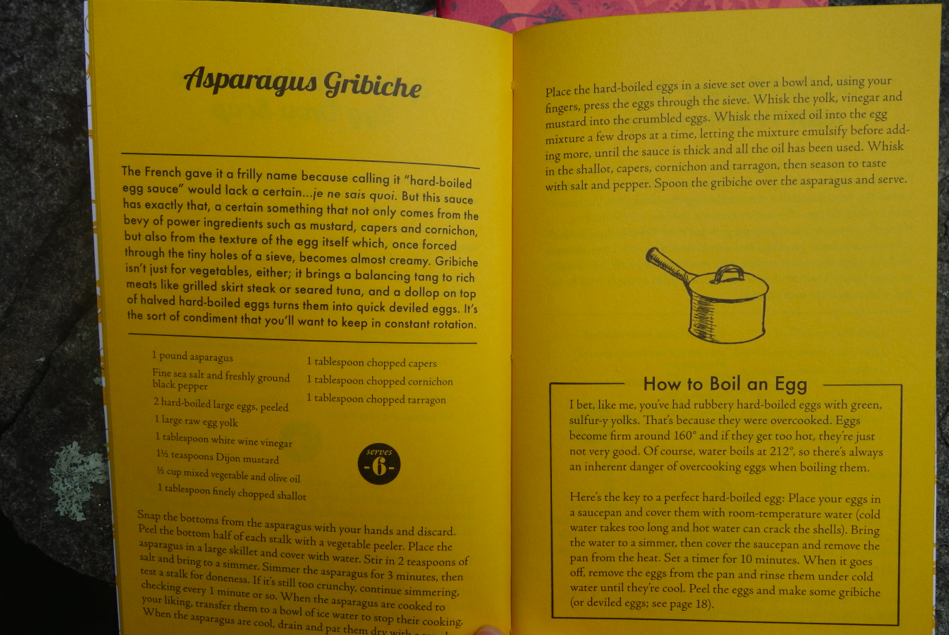 sample of recipes and information given in the books.