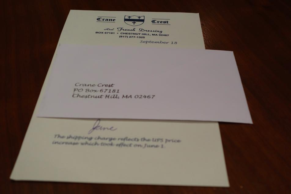 Self addressed envelope.