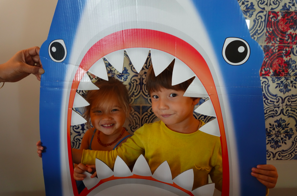 Shark photo booth