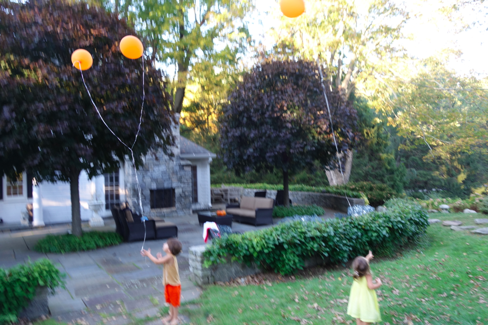 Don't do this at home (bad for environment and animals), but we released the balloons into the sky. It was so pretty.
