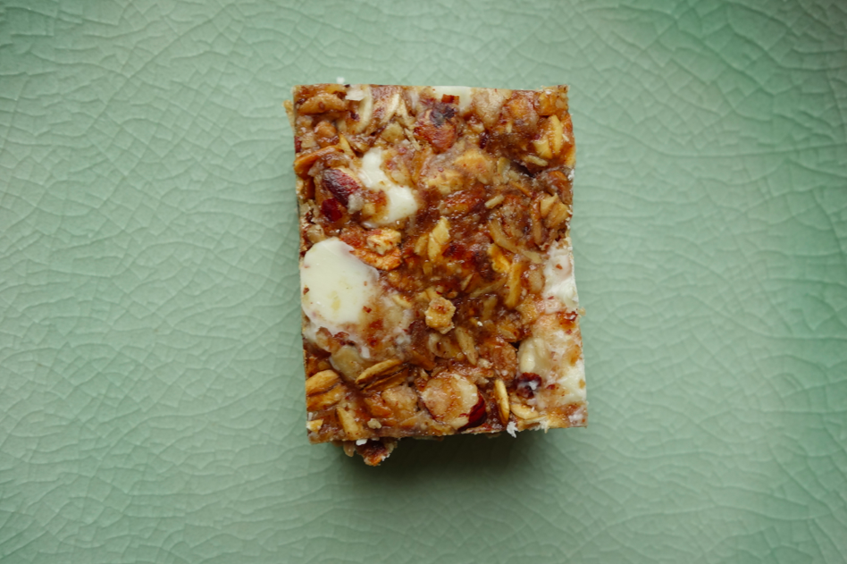 A perfectly rectangular, healthy, filling, and tasty snack.