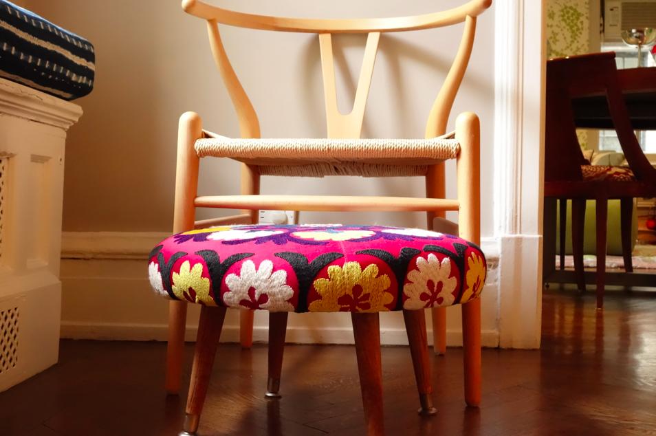 A foot stool. A PINK foot stool.