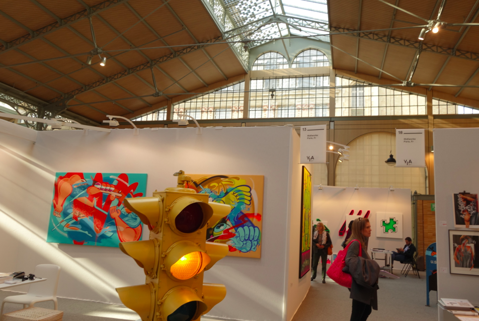 Stumbled upon 2 different art fairs on Sunday. Both were contemporary art shows in historic buildings. The perfect twist.