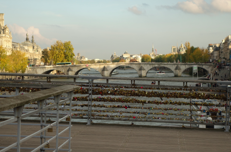 Our love lock.....Ken and I have eternal love, but just not sure where our lock is....