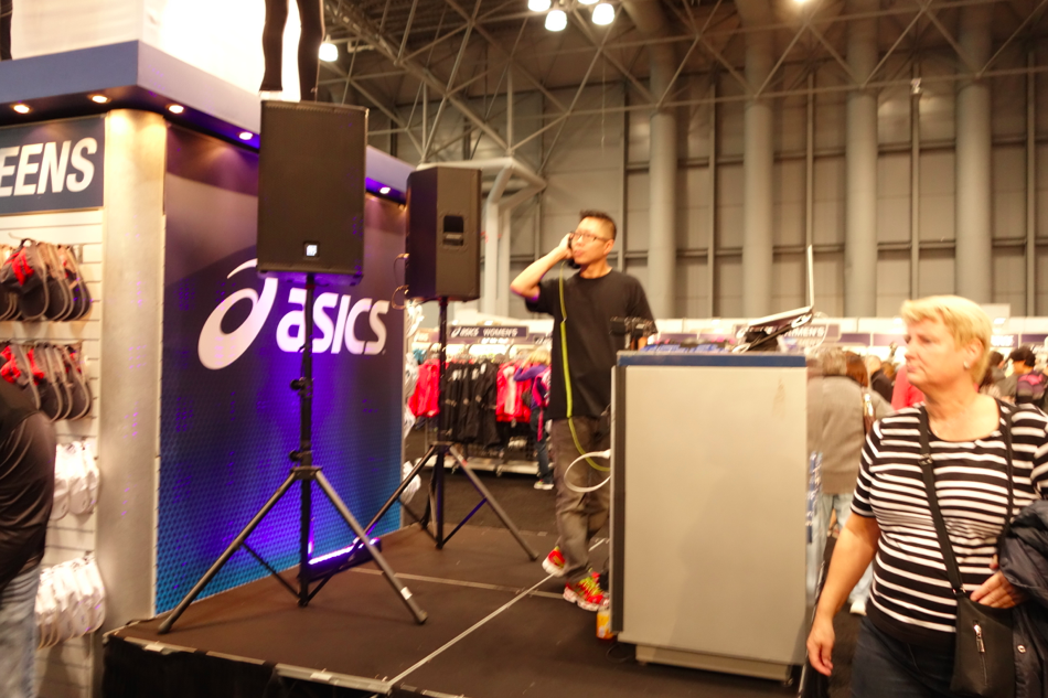 TCS marathon knows how to party. DJ at the Expo!