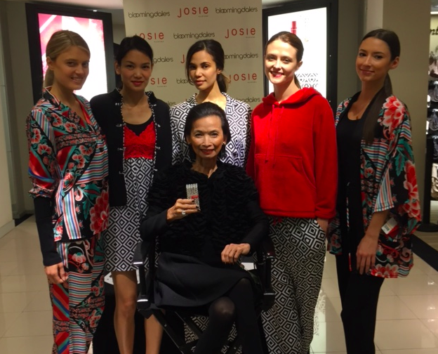 Mom with Josie Girls and the Josie Fragrance at Bloomingdale's