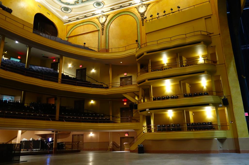 Hammerstein Ballroom, during the sound check.