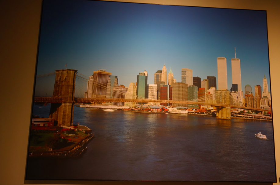 A photo of New York City, 5 minutes before the attack. This photo is the start of the exhibition, tracking the day from start to finish.