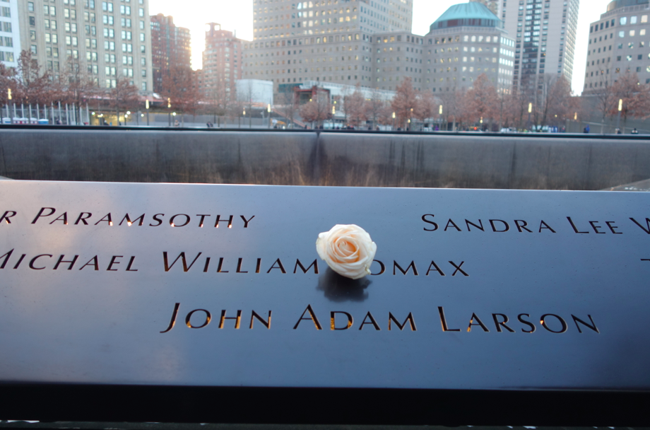 Each day, an employee of the memorial, goes outside and places a white rose for the people whose birthday is that day.