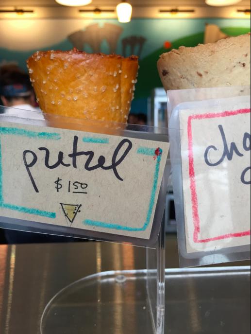 Pretzel or cookie cones!
