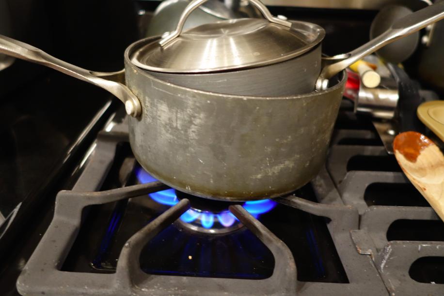(ghetto) double boiler