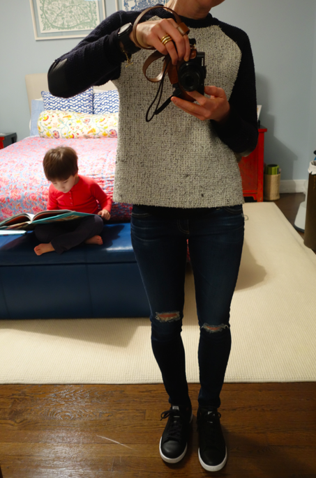 #OOTD and little boy with book.