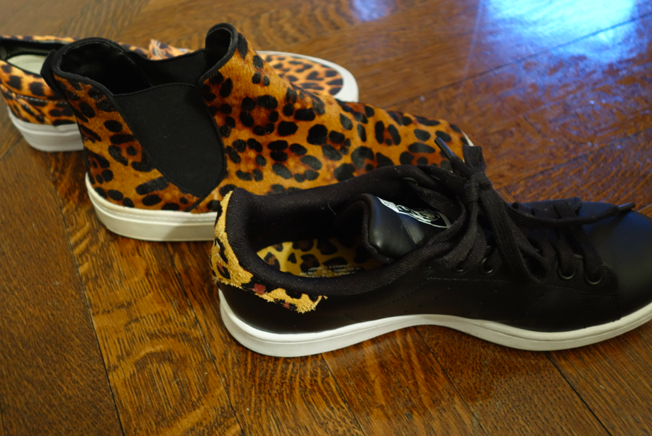 Apparently I like animal printed sneakers....
