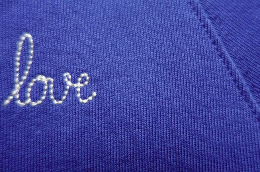 Classic stitching.
