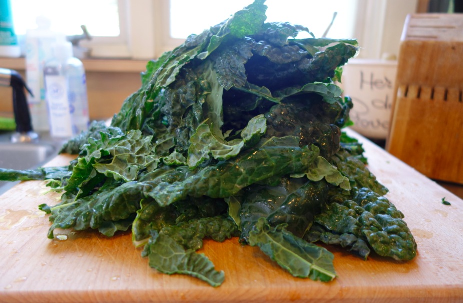 Heaps and mounds of kale.