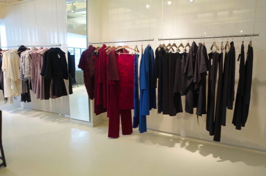 racks, racks, and more racks of lingerie, sleepwear, and Josie Natori Ready to wear.