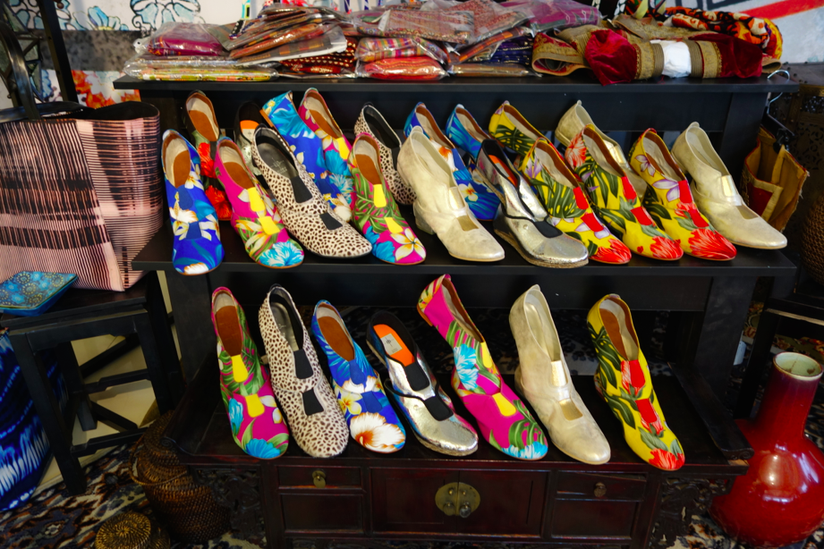 Ethnic shoes.