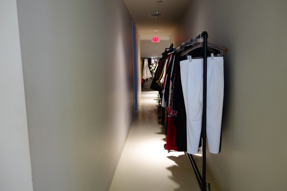 Hall leading away from the showroom to the offices.