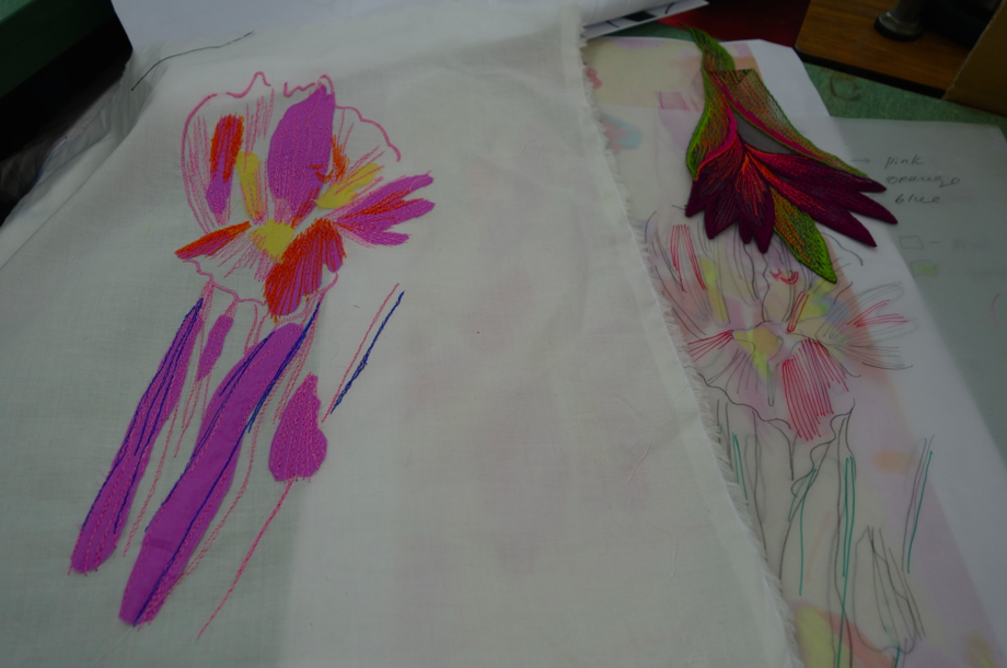 Embroidery in the works.