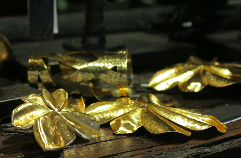 Gold jewels.