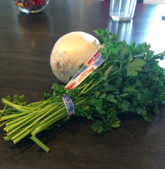 Onion and parsley