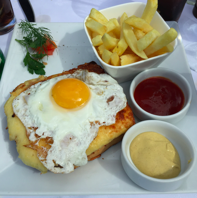 Croque Madame: What I ate post-race.