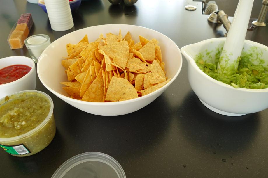 Pre Cinco de Mayo guac (so good, just avocado, shallots, lime juice, and salt). DELISH.