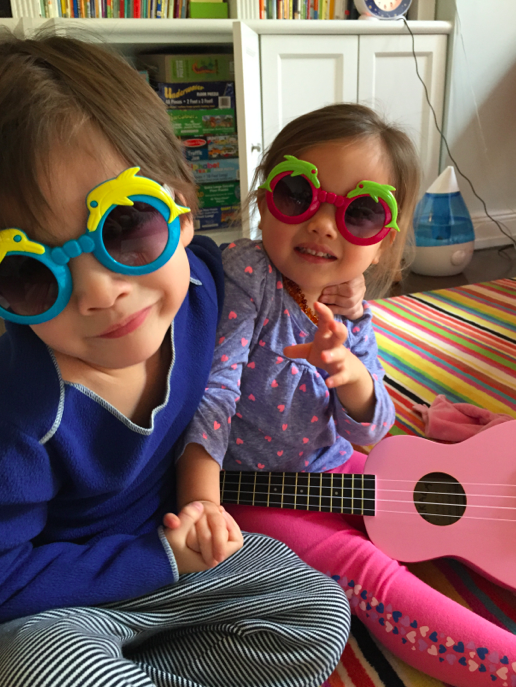 The kids wearing dolphin sunglasses that are now sold out on Little Circus.