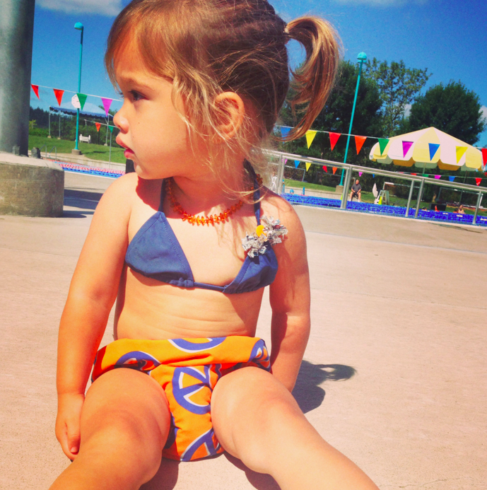 WHY OH WHY do kids always look so cute in bathing suits, hot damn.