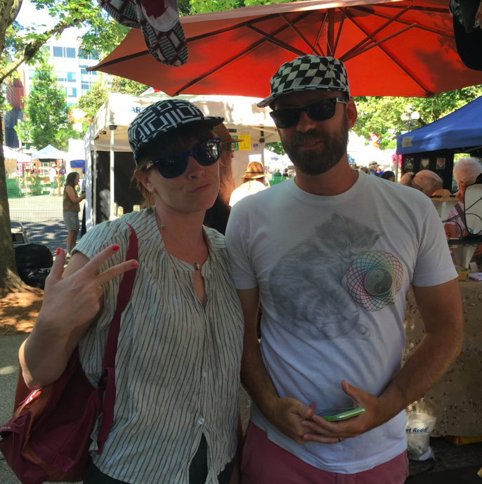 Our friends, Bridget and Joe, visiting from Oakland for the week. They left with matching handmade and radical hats.