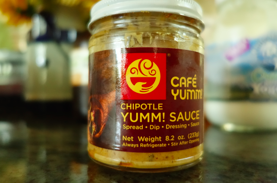Yumm sauce comes in three varieties; original, garlic and chipotle. Our favorite is the chipotle....