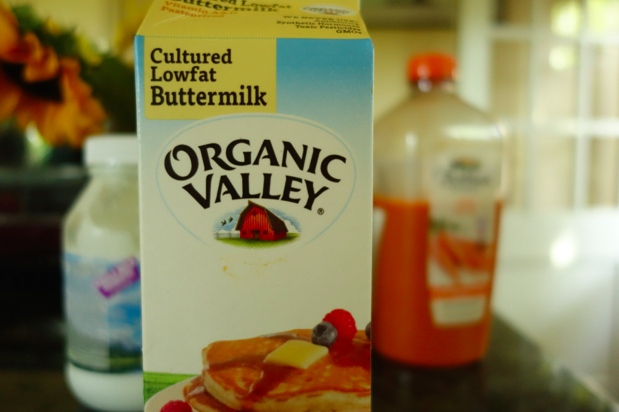 Cultured low fat buttermilk -- also good in pancake mix!