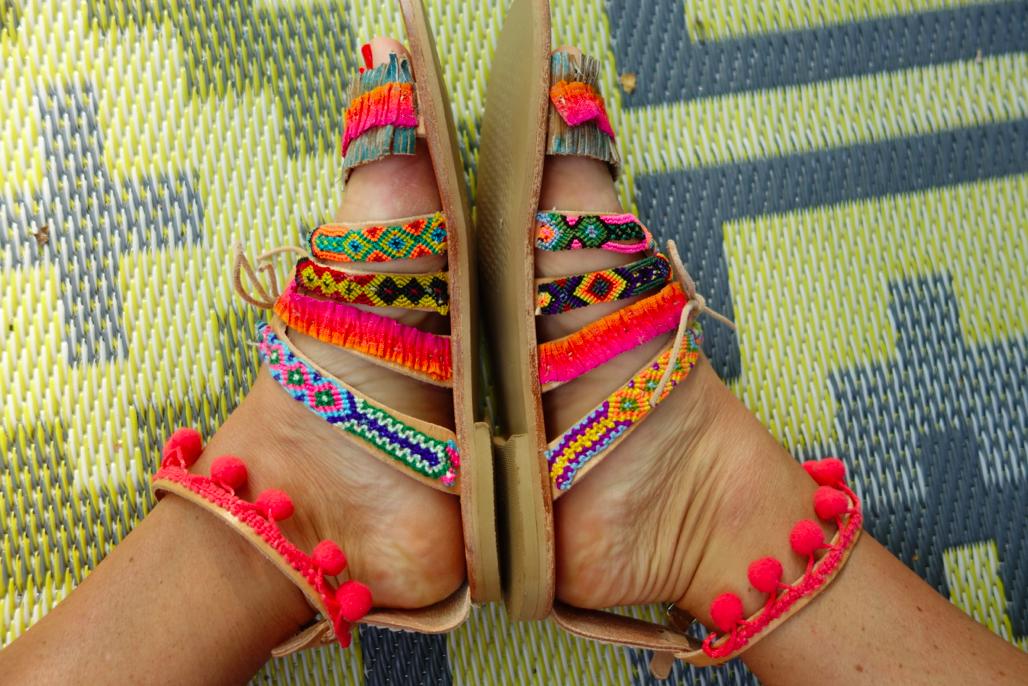 Happy feet.