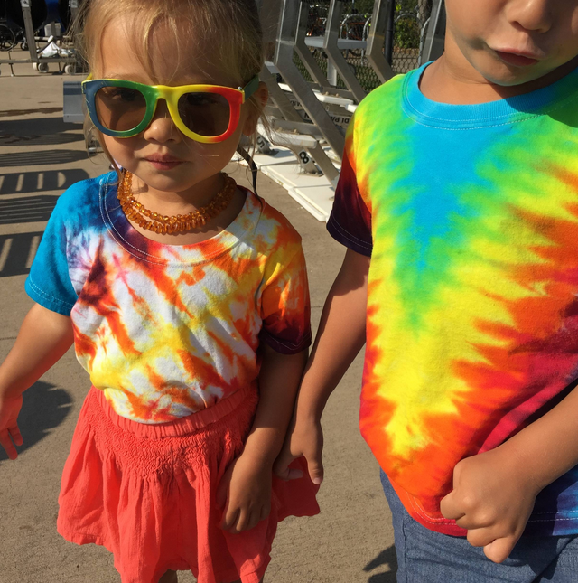 And I am trying my hardest to make tie-dye a big part of my kids' life, too.