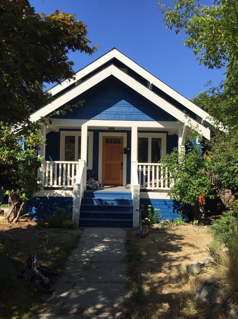 The Little Blue House, the cutest (and not actually little) house.