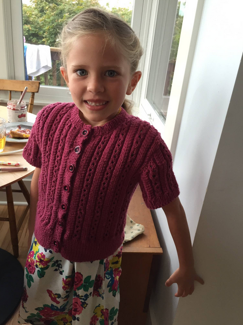 Alagna in a hand-knit sweater by my mom.