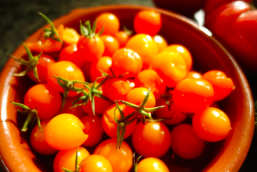 I also used cherry tomatoes.