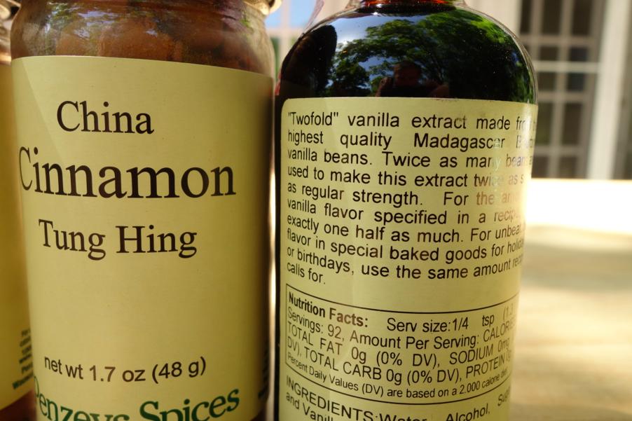 Cinnamon and vanilla.