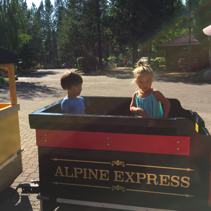 Alpine Express....and, sigh...I think Cruzzie might be too old for these types of things these days. He used to be in love with trains, planes, automobiles...but now, the newness has warn off, and it no longer makes him so happy. Growing up sucks.
