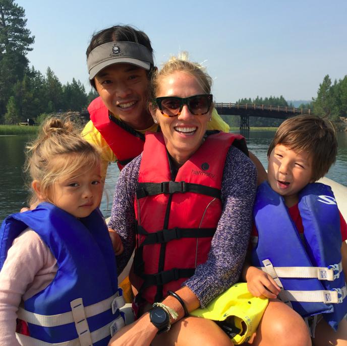 No rapids on this raft trip.