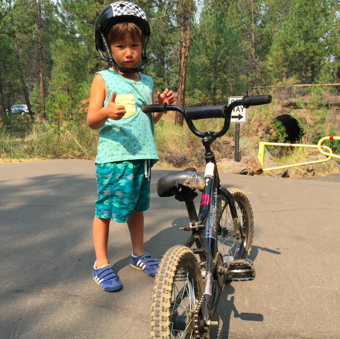 Lots of biking, thumbs up, dude.