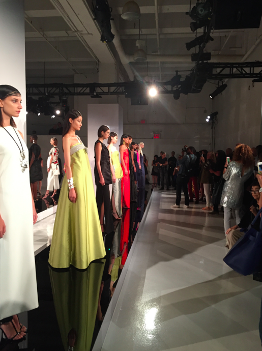 The line up of models.