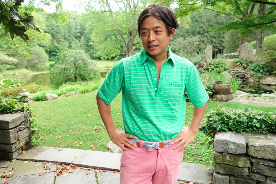 Ken and his shirt.