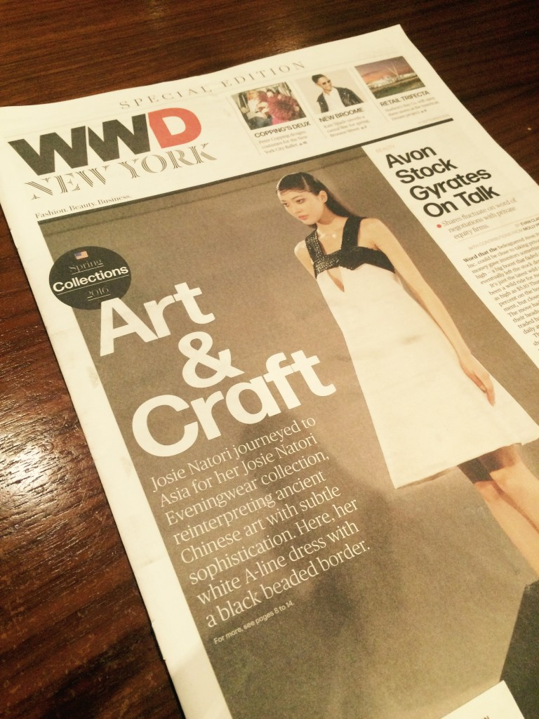 And here is today's cover of WWD!!