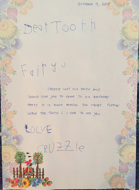 The letter written by Cruzzie (although the middle section, was dictated by him, obviously).