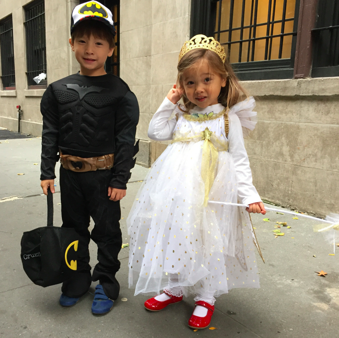 Snow Fairy Princess and Hipster Batman brother.