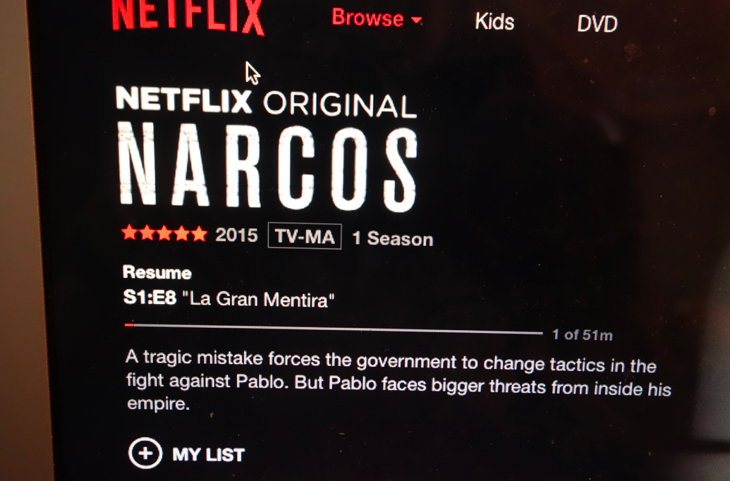 Narcos, best TV show since The Wire and Friday Night Lights.