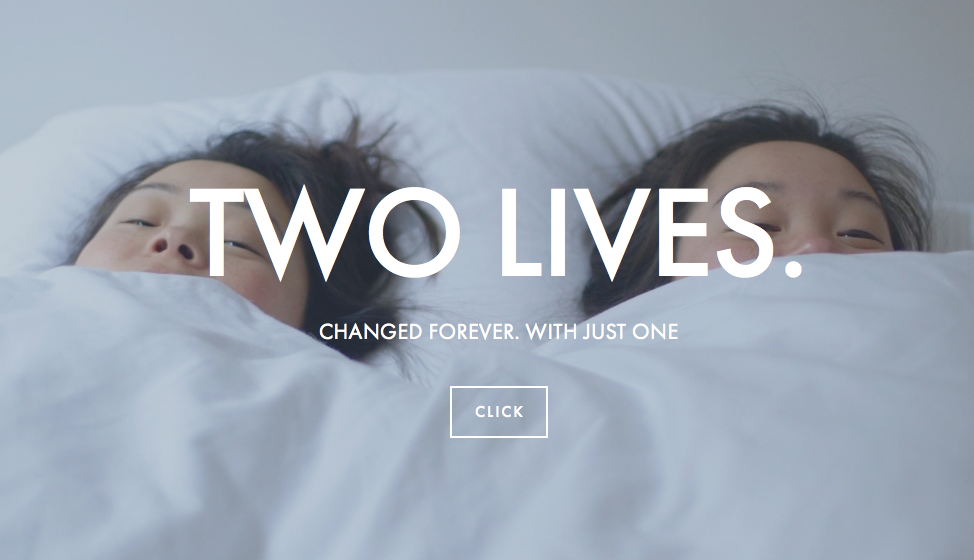 Two lives. Changed forever with just one click.